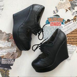 Soda Shoes - Soda Wedge Heels • Size 6.5